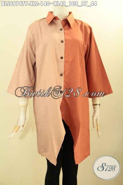 Baju Blouse Atasan Perempuan Desain Terbaru Nan Modis Dan Berkelas, Hadir Dengan Kombinasi Warna Bagus Bahan Adem Kain Toyobo Yang Nyaman Di Pakai Aktivitas Harian [BLS8974TY-XL]