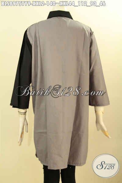 Sedia Baju Blouse Big Size Warna Elegan, Pakaian Cewek Gemuk Terbaru Model Trendy Bahan Kain Toyobo, Bisa Untuk Ngantor Maupun Acara Santai