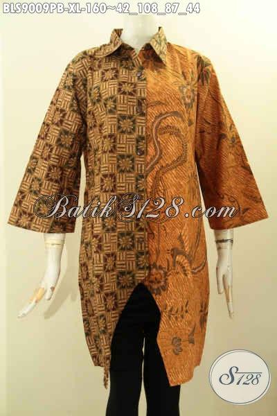 Pusat Pakaian Batik Solo Online, Sedia Blouse Lengan 3/4 Kwalitas Istimewa Harga Terjangkau, Bahan Halus Paduan Dual Motif Dan Dual Warna Proses Printing Cabut, Bisa Untuk Kondangan