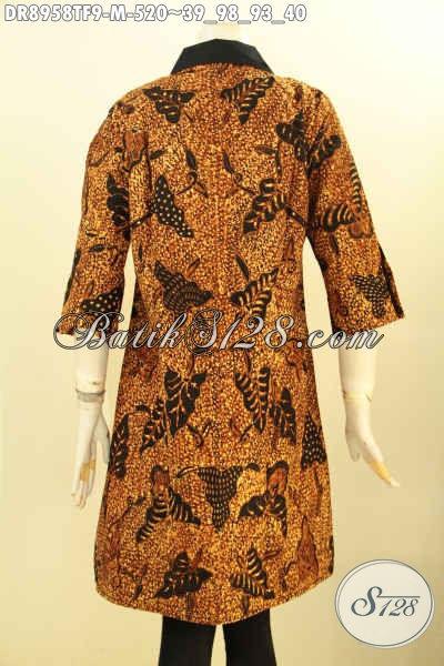 Jual Baju Batik Dress Premium Desain Mewah Motif Klasik Tulis Asli, Busana Batik Istimewa Yang Membuat Wanita Tampil Cantik Sempurna Dan Berkelas