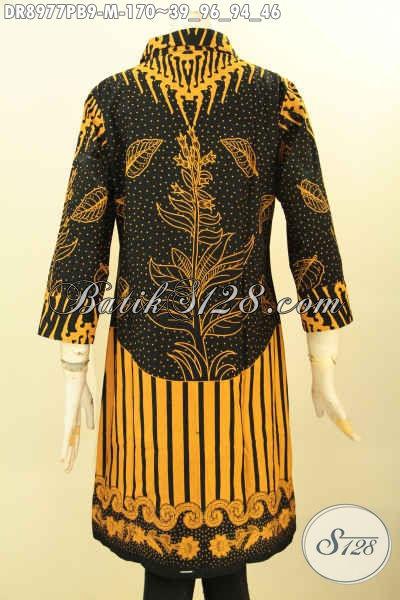 Model Pakaian Batik Wanita Terbaru Dress Batik Modis Desain Kerah
