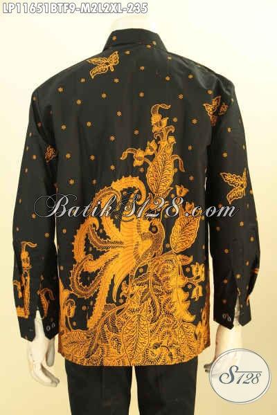 Kemeja Batik Pria Terbaru Model Lengan Panjang Full Furing, Busana Batik Cowok Elegan Dan Berkelas Motif Unik Proses Printing Cabut, Bikin Penampilan Lebih Menawan