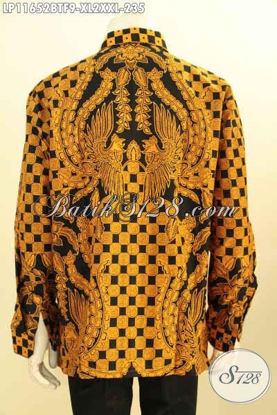 Pusat Busana Batik Solo Pria Online, Jual Hem Lengan Panjang Full Furing Berkelas Cocok Untuk Acara Resmi, Pakaian Batik Istimewa Motif Bagus Printing Cabut, Modis Juga Buat Ngantor