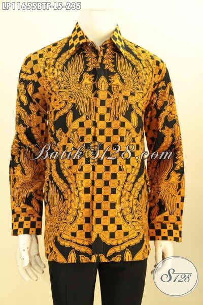 Produk Baju Batik Cowok Lengan Panjang Mewah Full Furing Dengan Harga Terjangkau, Kemeja Batik Elegan Motif Unik Printing Cabut Bahan Adem Yang Nyaman Di Pakai