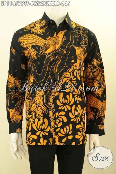 Baju Batik Solo Spesial Untuk Pria Kantoran, Hadir Dengan Model Lengan Panjang Berkelas Motif Unik Proses Printing Cabut Daleman Full Furing, Istimewa Juga Untuk Kondangan [LP11657BTF-M]