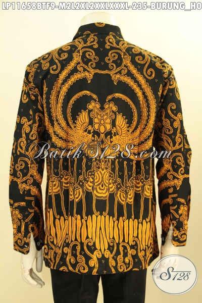 Aneka Busana Batik Pria Muda Dan Dewasa Motif Burung Phoenix Model Lengan Panjang Full Furing, Produk Pakaian Batik Nan Istimewa Untuk Kerja Dan Kondangan