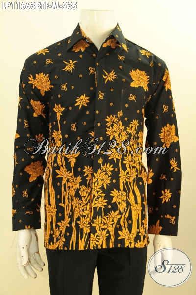 Koleksi Busana Batik Pria Tren Masa Kini, Busana Batik Solo Lengan Panjang Full Furing Motif Kekinian Proses Printing Solo Cabut, Elegan Buat Kondangan Dan Modis Untuk Ngantor