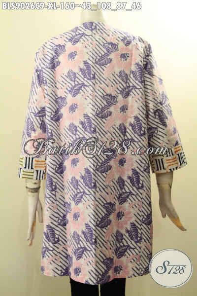Baju Batik Atasan Wanita Modern, Hadir Dengan Motif Bagus Desain Keren Di Lengkapi Kancing Depan Dan Lengan Panjang 7/8, Cocok Juga Untuk Wanita Berhijab