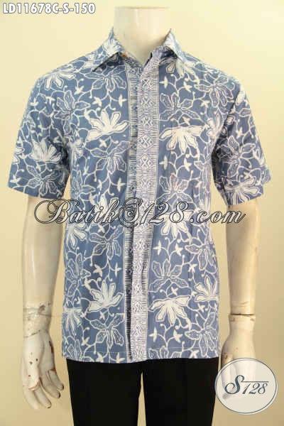Baju Batik Casual Untuk Pria Lengan Pendek Bahan Halus Kwalitas Istimewa Motif Terbaru, Cocok Untuk Kerja Kantoran Dan Busana Santai
