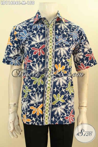 Kemeja Batik Lengan Pendek Motif Keren Warna Trendy Motif Tren Masa Kini Proses Cap, Busana Batik Pria Muda Yang Membuat Penampilan Terlihat Modis Dan Kece