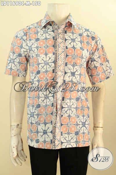 Kemeja Batik Pria Lengan Pendek Warna Pastel Motif Bagus Bahan Adem Yang Nyaman Di Pakai, Cocok Buat Ngantor Dan Hangout Tampil Stylish