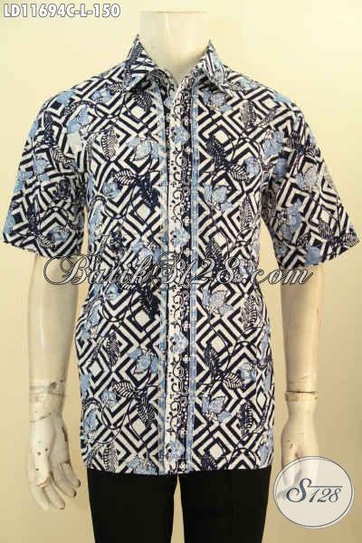 Batik Kemeja Trendy Lengan Pendek Nan Modis, Busana Batik Hem Pria Terbaru Motif Bagus Warna Elegan, Bikin Penampilan Terlihat Gagah Dan Tampan