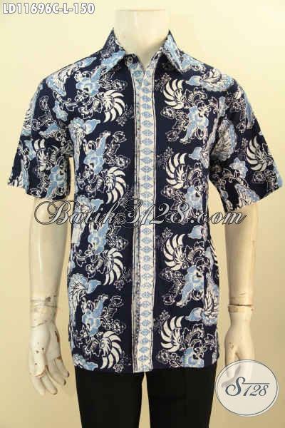 Batik Kemeja Modern Pria Lengan Pendek, Busana Batik Solo Motif Keren Warna Berkelas Kwalitas Istimewa Dengan Harga Biasa