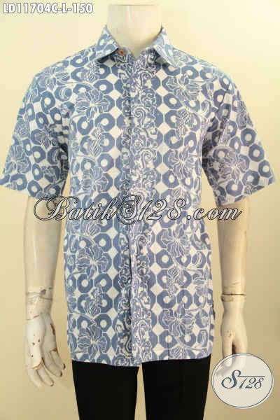 Kemeja Batik Pria Lengan Pendek Untuk Kerja Kantoran, Busana Batik Modis Warna Bagus Kwalitas Istimewa, Pilihan Tepat Tampil Gagah Dan Tampan