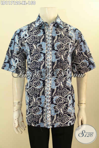 Hem Batik Modern Lengan Pendek Size XL, Busana Batik Pria Untuk Penampilan Lebih Berkelas Dan Kekinian Dengan Harga Terjangkau