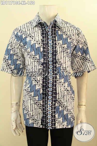 Busana Batik Elegan Motif Klasik Model Lengan Pendek Yang Memuat Penampilan Pria Lebih Berkelas Dan Mempesona Hanya 100 Ribuan Saja