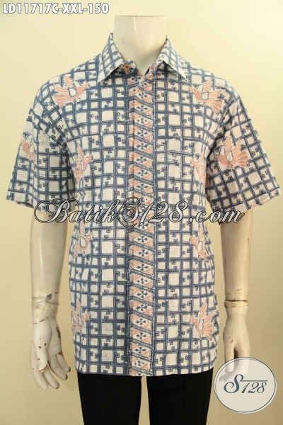 Kemeja Batik Lengan Pendek Big Size Spesial Untuk Lelaki Gemuk, Pakaian Batik Kerja Nan Berkelas Motif Terkini Yang Juga Cocok Untuk Acara Resmi