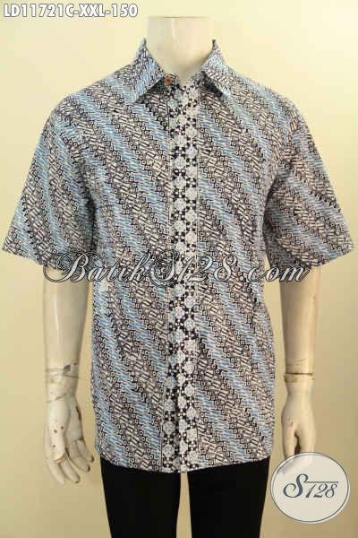 Baju Kemeja Batik Lelaki Gemuk Model Dan Motif Tebaru, Busana Batik Solo Nan Istimewa Model Lengan Pendek Bahan Adem Untuk Penampilan Terlihat Tampan Dan Berkelas
