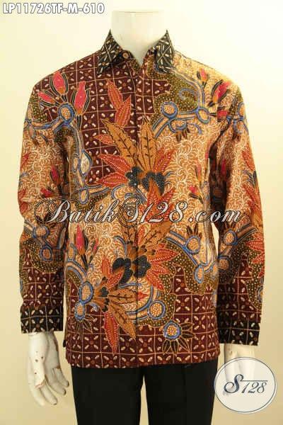 Produk Tebaru Busana Batik Pria Lengan Panjang Full Furing, Busana Batik Tulis Solo Desain Mewah Untuk Kondangan Dan Acara Formal Tampil Gagah Berkelas