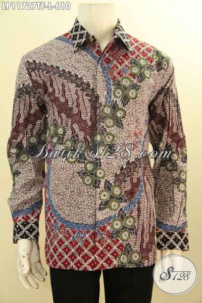 Baju Batik Pria Sukses, Kemeja Batik Lelaki Berkelas, Busana Batik Tulis Premium Lengan Panjang Full Furing, Penampilan Lebih Gagah Dan Tampan