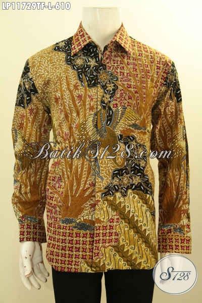 Baju Batik Premium Model Lengan Panjang, Busana Batik Solo Nan Berkelas Daleman Full Furing, Busana Batik Istimewa Proses Tulis, Menunjang Penampilan Lebih Gagah Dan Berkelas