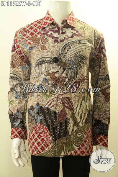 Kemeja Batik Pria Mewah Lengan Panjang Full Furing, Busana Batik Tulis Nan Mewah Motif Bagus Yang Membuat Penampilan Terlihat Berkelas Dan Istimewa