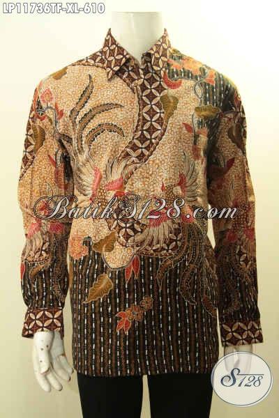 Produk Busana Batik Tebaru Lengan Panjang Full Furing, Pakaian Batik Mewah Tulis Asli Khas Jawa Tengah Untuk Pria Tampil Makin Percaya Diri
