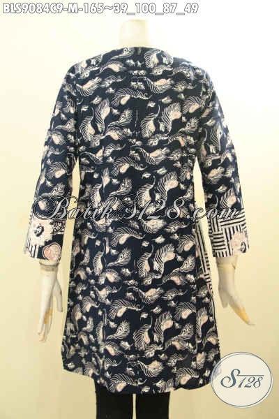 Batik Blouse Solo Asli Desain Terkini Dengan Resleting Belakang Dan Lengan Panjang, Pakaian Batik Terbaru Cocok Buat Ngantor Dan Acara Resmi Hanya 165K