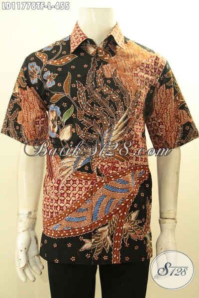 Kemeja Batik Solo Modern, Busana Batik Lengan Pendek Tulis Pakai Furing Motif Bagus Menunjang Penampilan Makin Gagah Dan Tampan Hanya 400 Ribuan