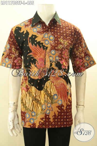 Produk Tebaru Baju Batik Atasan Untuk Pria Model Lengan Pendek Motif Bagus Proses Tulis, Pakaian Batik Istimewa Di Lengkapi Lengkapi Lapisan Furing Hany 455K
