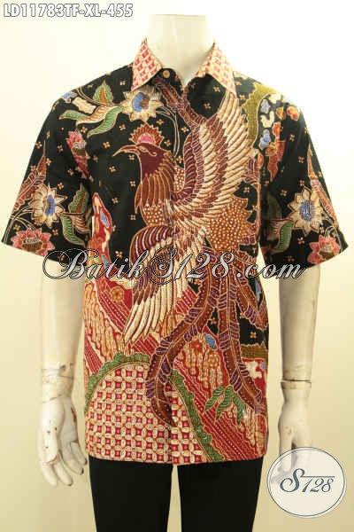Baju Batik Pria Lengan Pendek Size L2, Baju Batik Solo Istimewa Full Furing Bahan Adem Motif Bagus Proses Tulis, Tampil Lebih Percaya Diri