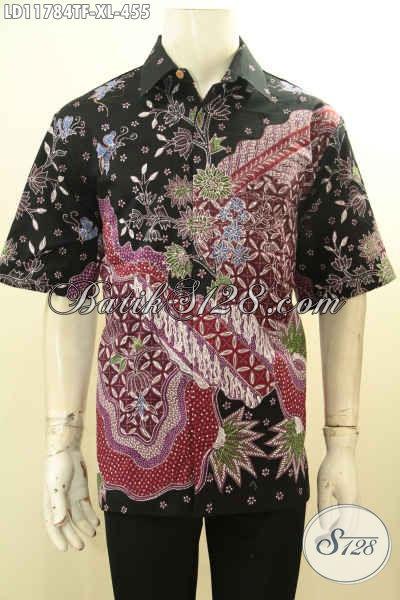 Baju Batik Cowok Elegan, Kemeja Batik Kerja Lengan Pendek Motif Bagus Proses Tulis Di Lengkapi Lapisan Furing, Tampil Mewah Dan Istimewa