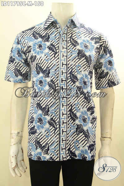 Baju Batik Casual Pria Lengan Pendek, Kemeja Batik Modis Motif Baru Proses Cap Bahan Adem Yang Nyaman Di Pakai, Tampil Gaya Dan Tampan