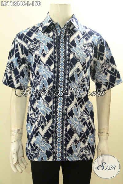 Baju Batik Pria Lengan Pendek Keren Untuk Penampilan Lebih Kece, Busana Batik Kemeja Kekinian Bahan Halus Motif Trendy Hanya 100 Ribuan