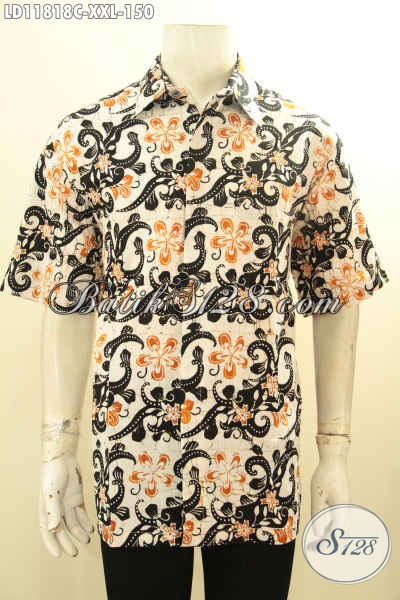 Jual Kemeja Batik Solo Lengan Pendek Motif Trend Masa Kini, Busana Batik Keren Warna Bagus Spesial Untuk Lelaki Gemuk Tampil Gagah Dan Kece
