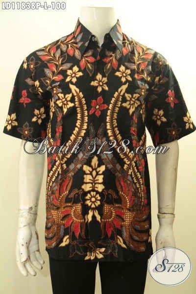 Produk Tebaru Kemeja Batik Solo Nan Istimewa, Baju Batik Modis Lengan Pendek Motif Kekinian Proses Printing, Cocok Untuk Kerja Dan Acara Resmi
