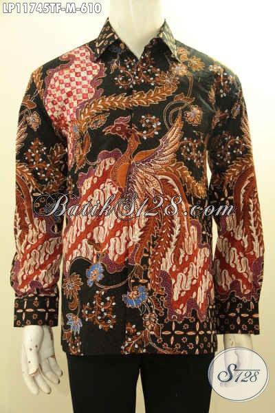 Kemeja Batik Premium Mewah Khas Pejabat, Busana Batik Tulis Full Furing Model Lengan Panjang Motif Terkini, Penampilan Makin Gagah Berwibawa