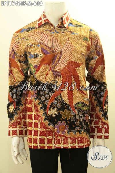 Busana Batik Pria Mewah Lengan Panjang Tulis Asli, Pakaian Batik Formal Nan Berkelas Daleman Full Furing, Penampilan Makin Percaya Diri [LP11746TF-M]