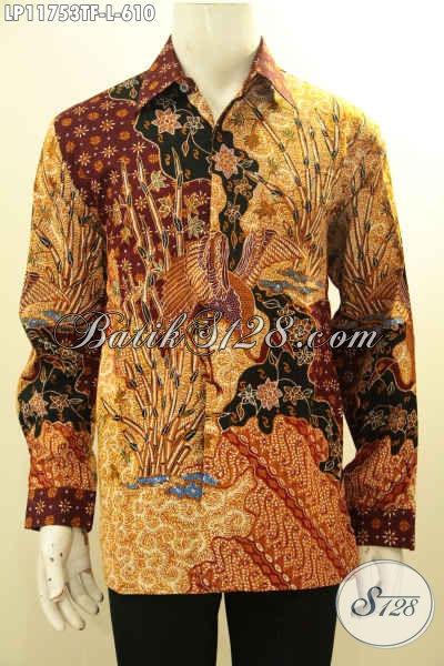 Model Busana Batik Pria Kantoran Lengan Pendek Mewah, Kemeja Batik Tulis Premium Full Furing Yang Menunjang Penampilan Lebih Gagah Dan Berkelas