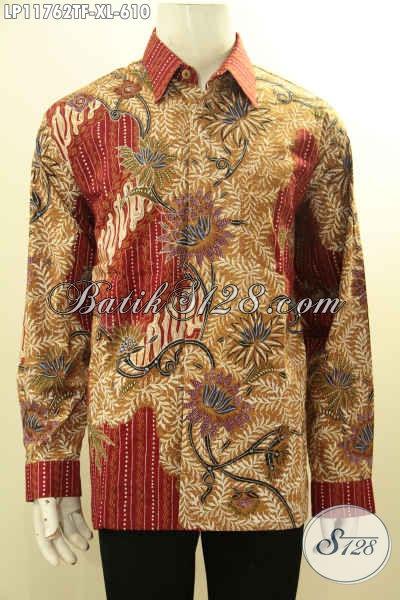 Sedia Kemeja Batik Solo Mewah Halus Full Furing, Baju Batik Solo Terbaik Motif Klasik Tulis Asli Model Lengan Panjang, Kesukaan Pejabat Maupun Eksekutif