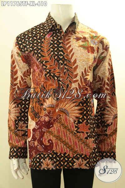 Kemeja Batik Solo Mewah Halus Full Furing Model Lengan Panjang, Baju Batik Tulis Asli Desain Mewah Yang Menunjang Penampilan Lelaki Lebih Sempurna