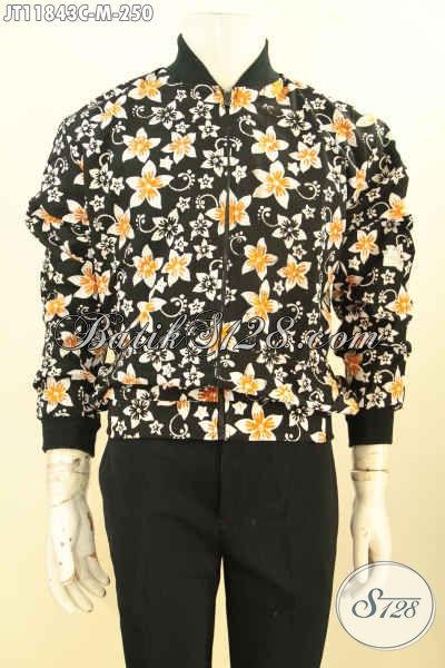 Produk Terbaru Jaket Batik Motif Unik, Jaket Batik Bomber Khas Jowoki Nan Istimewa Bahan Halus Daleman Pakai Furing, Cocok Untuk Wanita Dan Pria
