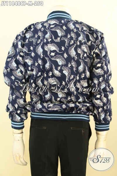 Koleksi Jaket Batik Bomber Khas Jawa Tengah Desain Motif Keren Proses Cap Di Lengkapi Furing Dormeuil Nan Berkelas, Cocok Buat Riding Dan Hangout [JT11848C-M]