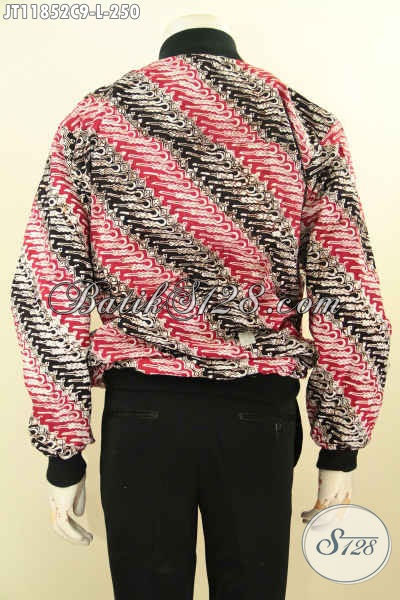 Jaket Batik Warna Cerah Motif Klasik Nan Mewah, Produk Jaket Bomber Bahan Batik Solo Nan Berkelas Dengan Lapisan Dormeuil, Cocok Untuk Anak Motor
