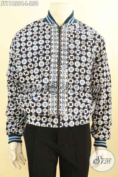 Jaket Bomber Batik Solo Kwalitas Istimewa, Produk Jaket Desain Trendy Motif Bagus Bahan Halus Proses Cap Di Lengkapi Lapisan Dormeuil, Tampil Lebih Bergaya