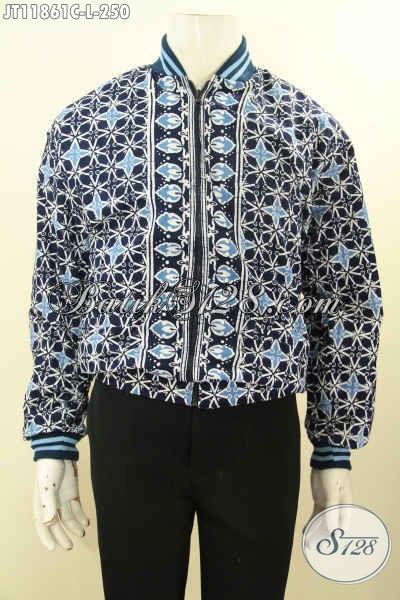 Jaket Batik Modis Motif Elgan, Fashion Jaket Model Bomber Buatan Solo Di Lengkapi Furing Dormeuil Kwalitas Istimewa Harga Terjangkau [JT11861C-L]