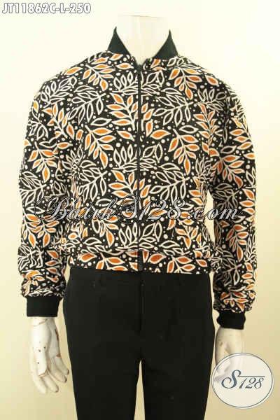 Jaket Batik Pria Terbaru, Hadir Dengan Motif Bagus Proses Cap Model Bomber Khas Jokowi Yang Di Lengkapi Furing Dormeuil, Tampil Makin Bergaya [JT11862C-L]