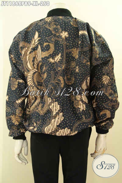 Jaket Batik Bomber Motif Klasik Nan Elegan Proses Printing Cabut, Fashion Jaket Kekinian Nan Berkelas Di Lengkapi Furing Dormeuil, Bisa Untuk Acara Santai Maupun Resmi [JT11868PB-XL]