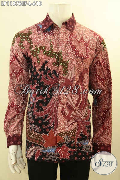 Koleksi Baju Batik Pria Mewah Tulis Asli Buatan Solo, Produk Busana Batik Tangan Panjang Pakai Furing Tampil Elegan Gagah Berwibawa
