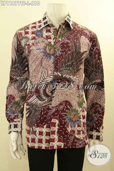 Baju Batik Solo Premium Tangan Panjang Pakai Furing, Busana Batik Khas Eksekutif Nan Berklas Motif Bagus Tulis Asli, Penampilan Kian Sempurna [LP11877TF-L]